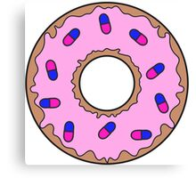 Donut and Pill Sprinkles Canvas Print