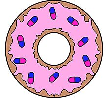 Donut and Pill Sprinkles Photographic Print
