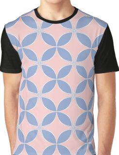 Abstract Frangipani Flower Pattern | Rose Quartz and Serenity | Pantone Colors of the Year 2016 Graphic T-Shirt