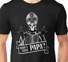 WHO'S YOUR PAPA? - papa 3 flippin' the bird-monochrome Unisex T-Shirt