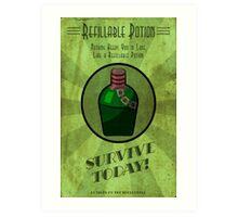 Refiliable Potion Art Deco poster Art Print