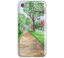 Landscape With Rabbit Squirrel and Butterflies iPhone Case/Skin
