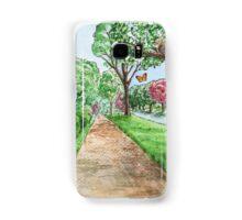Landscape With Rabbit Squirrel and Butterflies Samsung Galaxy Case/Skin