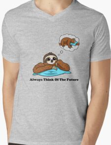 Always Think of The Future Mens V-Neck T-Shirt