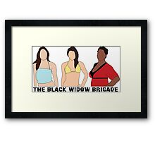 The Black Widow Brigade Framed Print