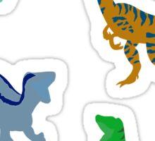 Echo the Raptor Silhouette Sticker