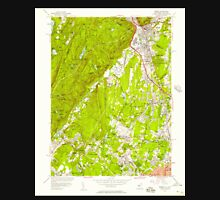 USGS TOPO Map New Jersey NJ Ramsey 254808 1955 24000 Unisex T-Shirt