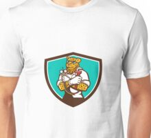 Leopard Heating Specialist Mechanic Shield Cartoon Unisex T-Shirt