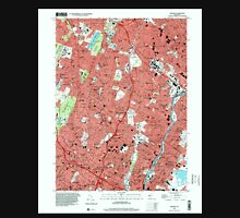 USGS TOPO Map New Jersey NJ Orange 254678 1995 24000 Unisex T-Shirt