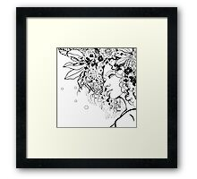 Girl No. 5 With Flowers in Her Hair Framed Print