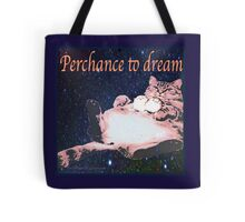 Perchance to Dream Cat in space Tote Bag