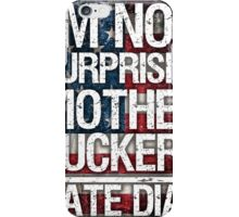 Nate Diaz UFC - Not Surprised USA Flag iPhone Case/Skin