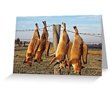 Foxes on Fence Greeting Card