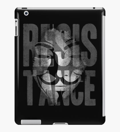 Anonymous Resistance iPad Case/Skin