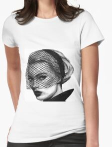 Margot Robbie Drawing Womens Fitted T-Shirt