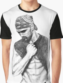 Shemar Moore Drawing Graphic T-Shirt
