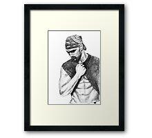 Shemar Moore Drawing Framed Print