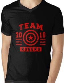 Team Rogers Mens V-Neck T-Shirt