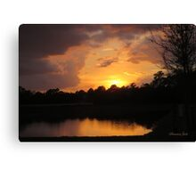 Spectacular Sunset Across the Lake Canvas Print
