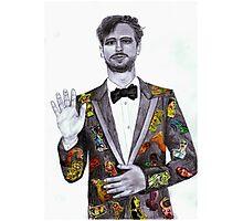 Matthew Gray Gubler Drawing Photographic Print