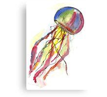 Watercolor Jellyfish Canvas Print