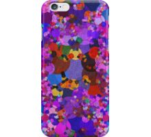 Colorful Blue Purple Abstract Splatter iPhone Case/Skin