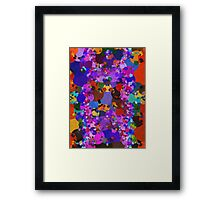 Colorful Blue Purple Abstract Splatter Framed Print