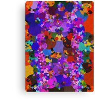 Colorful Blue Purple Abstract Splatter Canvas Print