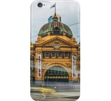 Rush Hour at Flinders Station iPhone Case/Skin