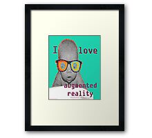 I Love Augmented Reality Baby Framed Print