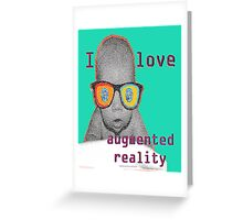 I Love Augmented Reality Baby Greeting Card