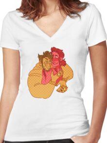 c a r e s s    h i m Women's Fitted V-Neck T-Shirt