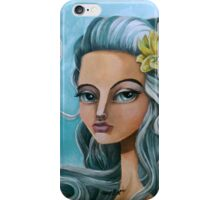 Biella Painting Art portrait blue hair sianelliot iPhone Case/Skin
