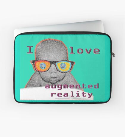 I Love Augmented Reality Baby Laptop Sleeve