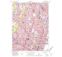 USGS TOPO Map New Jersey NJ Orange 254677 1955 24000 Photographic Print