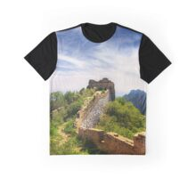 Wild Great Wall of China - Panoramic Graphic T-Shirt