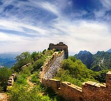 Wild Great Wall of China - Panoramic by SeeOneSoul