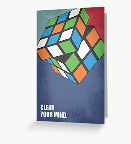 Clear Your Mind - Corporate Start-up Quotes Greeting Card