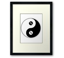 Pokemon Yin Yang Framed Print