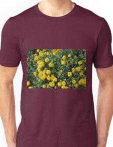 Bush of yellow flowers. Unisex T-Shirt