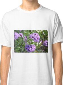 Purple spring flowers in the garden. Classic T-Shirt