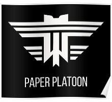 Paper Platoon Crest Poster