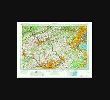 USGS TOPO Map New Jersey NJ Newark 255459 1944 250000 Unisex T-Shirt