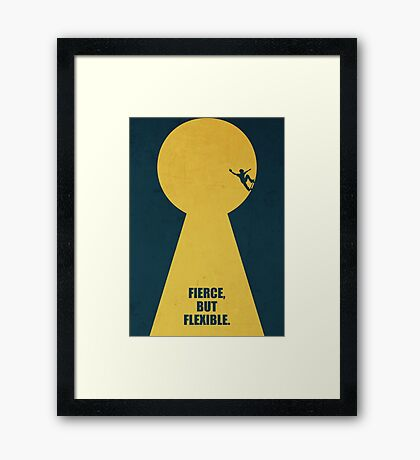 Fierce, But Flexible - Corporate Start-up Quotes Framed Print