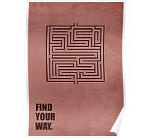Find Your Way Corporate Start-up Quotes Poster