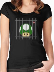1-Up Life Behind Bars Women's Fitted Scoop T-Shirt