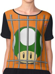 1-Up Life Behind Bars Chiffon Top