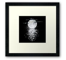 Rembulan : The Moon Meets The Ocean Framed Print