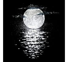 Rembulan : The Moon Meets The Ocean Photographic Print