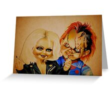 Chucky and his bride Greeting Card